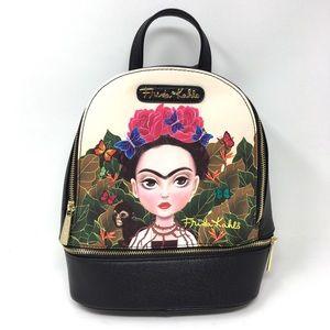 Frida Kahlo Licensed Black Small Backpack